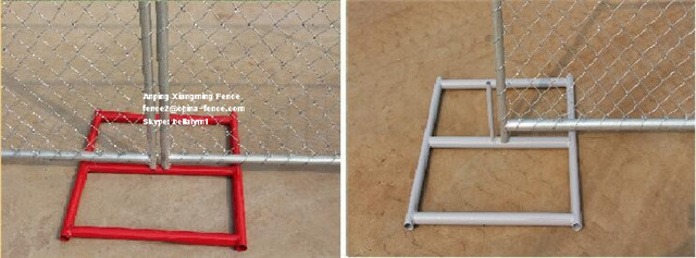 6X10FT Us Standard Temporary Fence Chain Link Fence with Cross Brace Bar