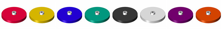 color rubber coated magnet