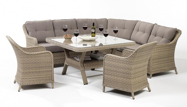 Rattan Wicker Garden Patio Outdoor Sofa Dining Set