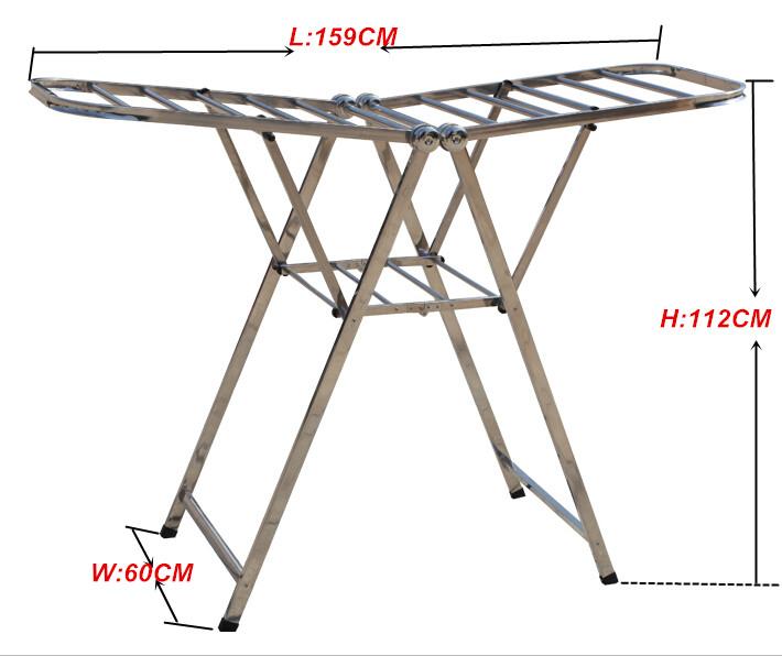 Fashion Type Stainless Steel Heavy Duty Coat Drying Hanger Rack