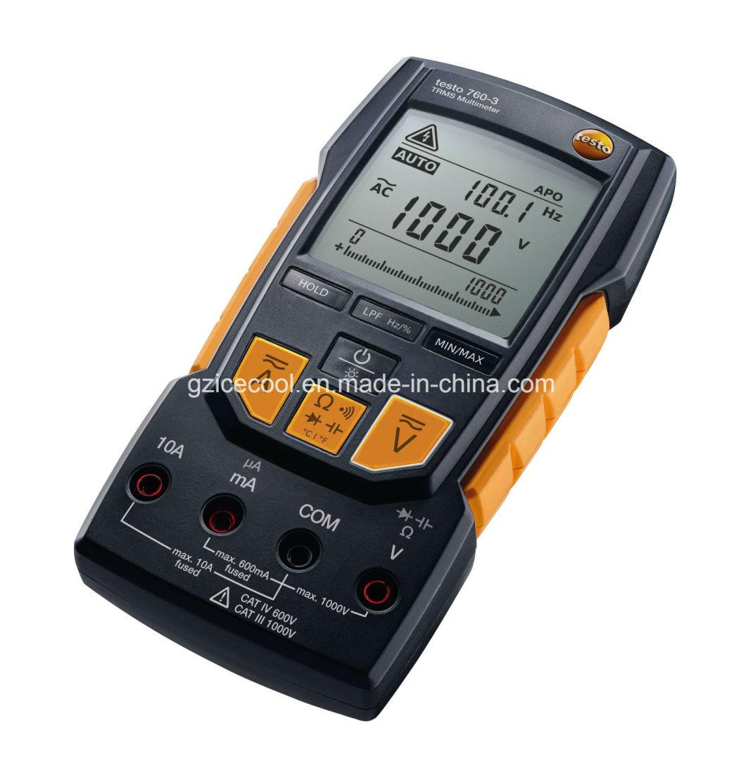 Max 1000V/60000 NF/ 30 MHz Testo760-3 Trms Multimeter Testo 760-3 Digital Multimeter
