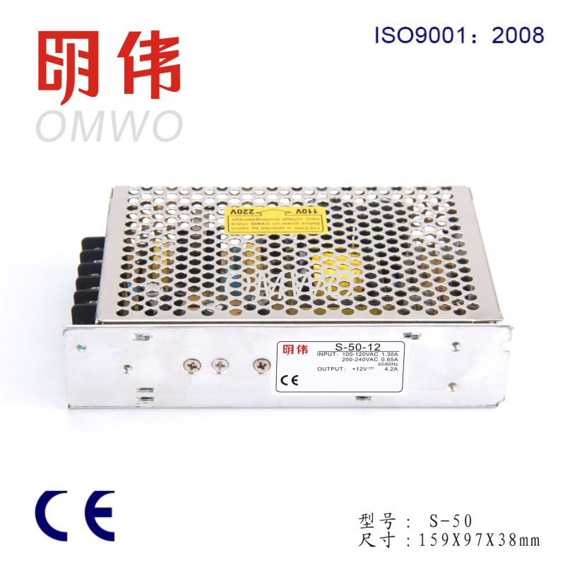 S-50 5-48V 50W Single Output High Efficiency Power Supply Switching Power Supply