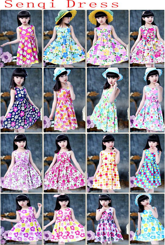 Flower Kids Girl Dress in Children's Apparel (SQD-123-124)
