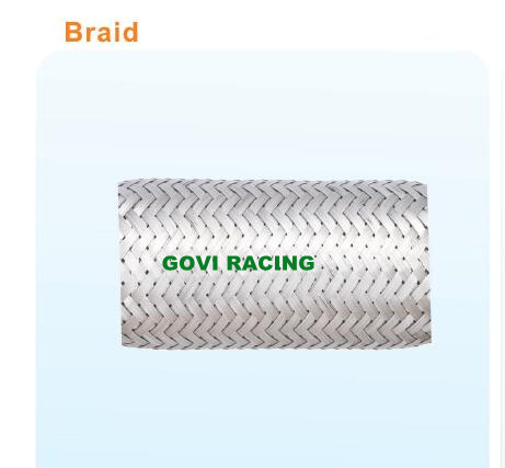 Auto Exhaust Flexible Pipe with Inter -Locked Hose / Braid Shape