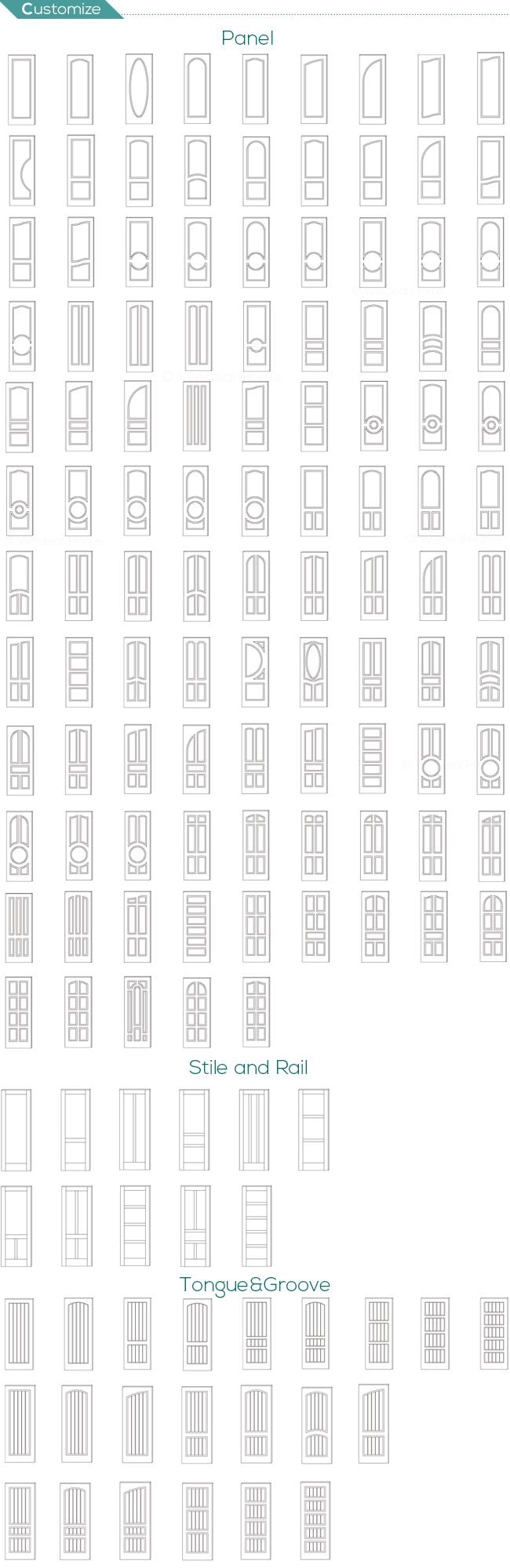 Bi-Folding Room MDF Door with Natural Veneer