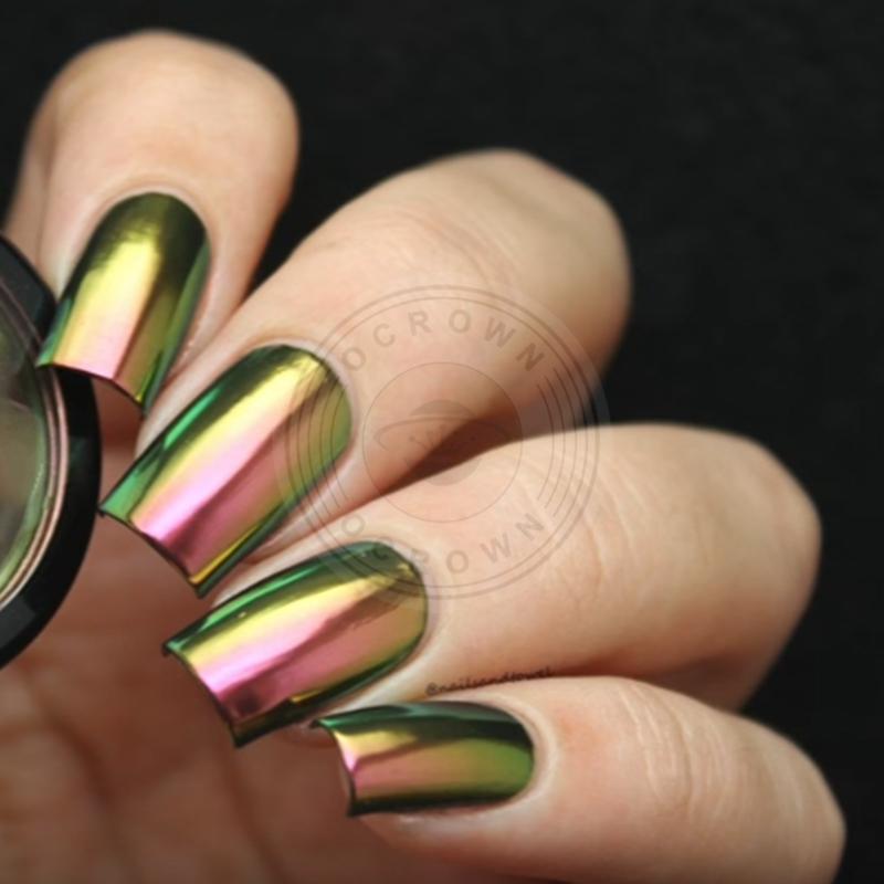 Shininig Metal Chrome Pigment Glitter Magic Chameleon Mirror Powder