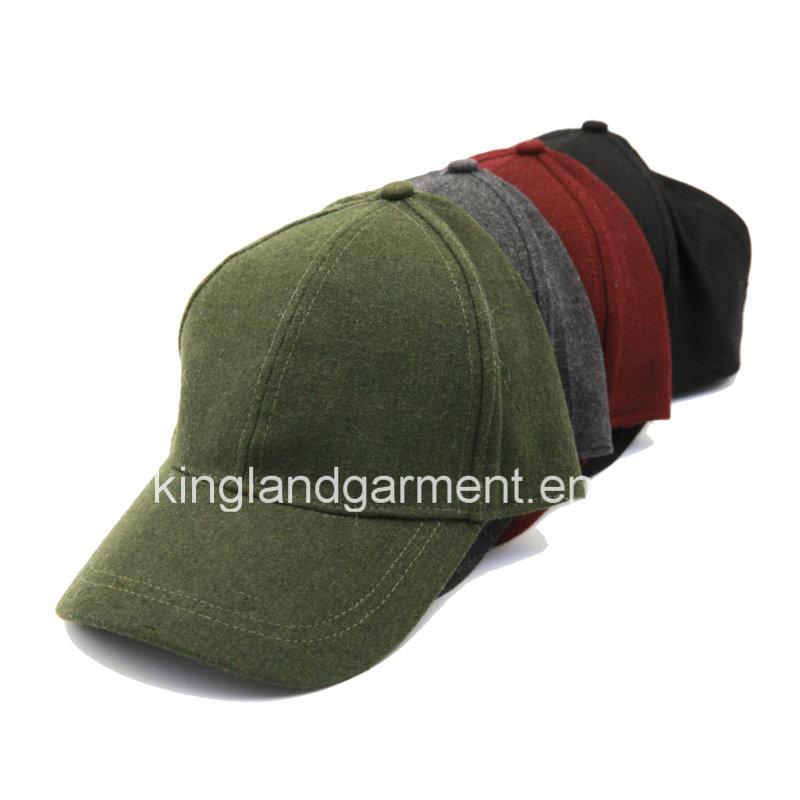 Polyester & Wool Quality Warm Plain Red/Burgundy Baseball Cap
