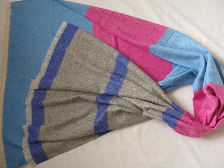 50% Cashmere 50% Wool New Stripes Shawl