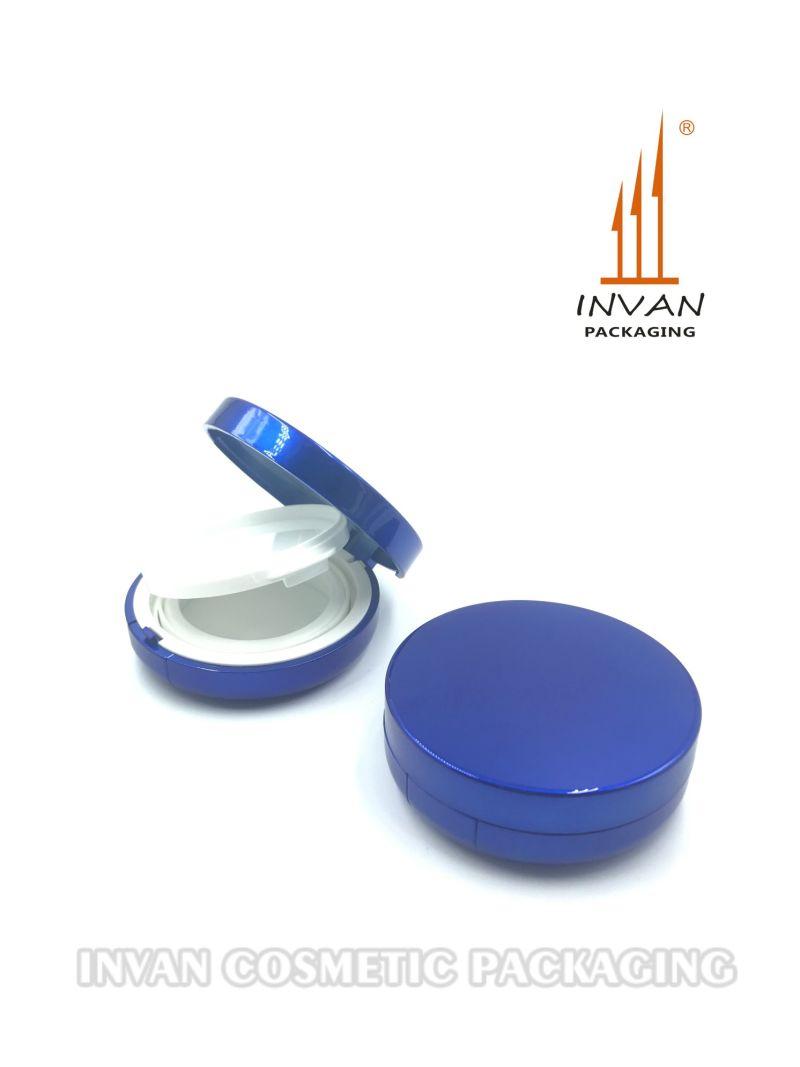 Elegant Royal Blue Air Cushion Bb Cream Compact Powder Case for Makeup