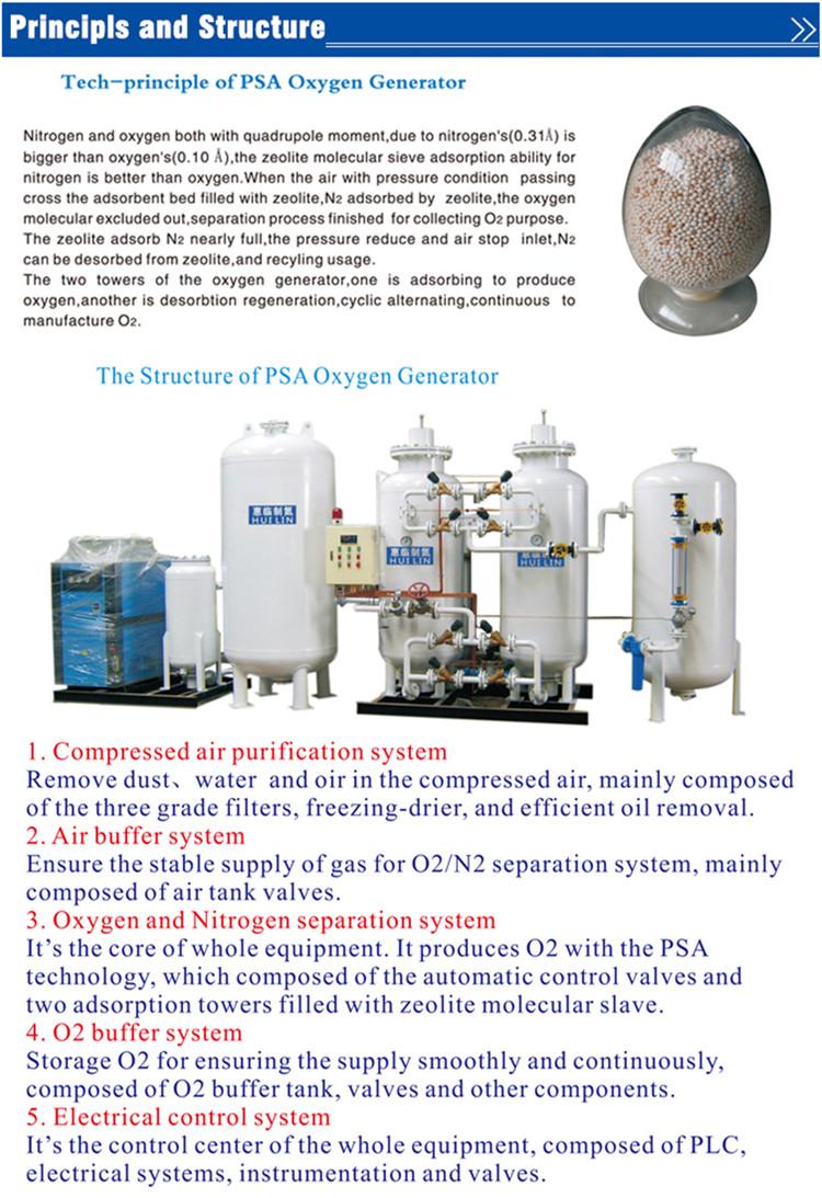 Psa Oxygen Generator with High Pressure (150bar)