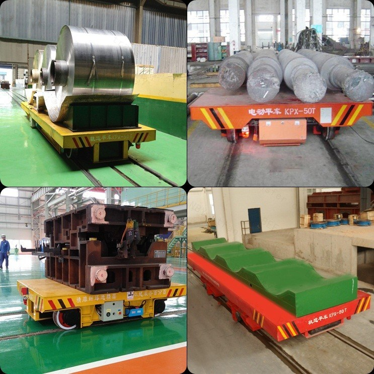 Aluminium Coil Use Electric Handling Cart for Heavy Industry on Rails