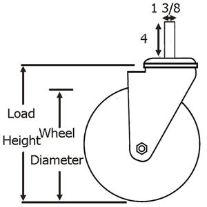Heavy Duty 8 Inch Scaffold Caster Wheels