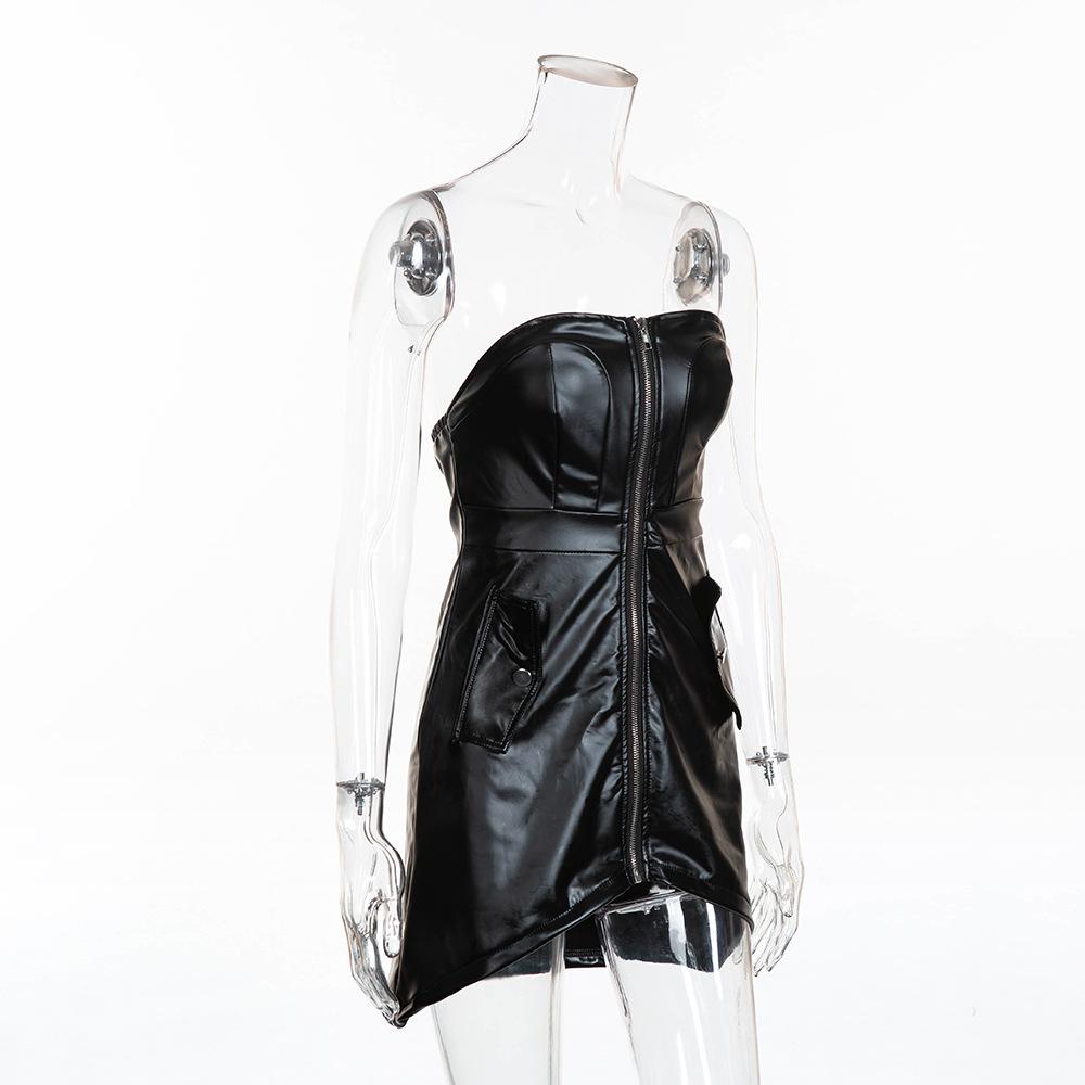 Fashion Party Women PU Dress