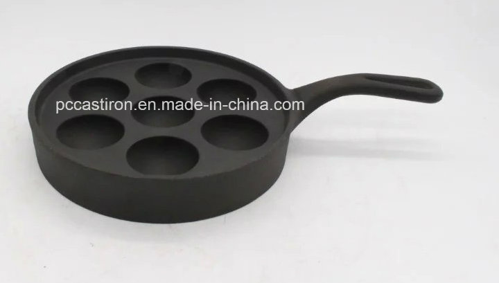 7PCS Cast Iron Pizza Pan with Handle Size 23cm