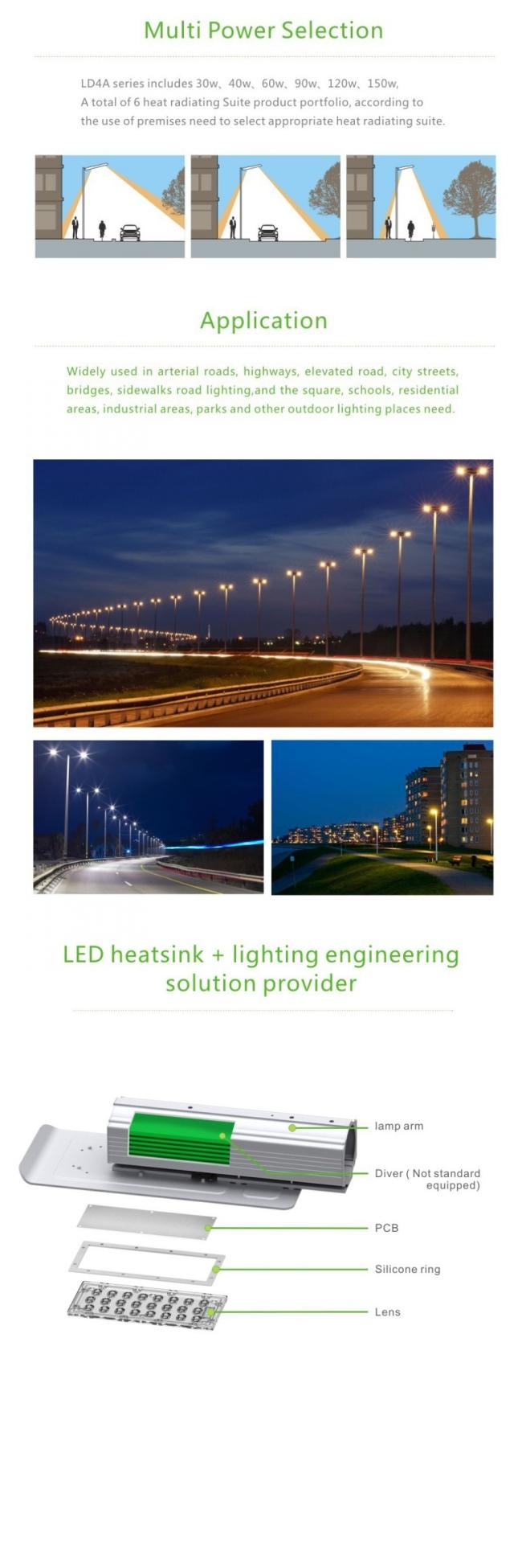 10kv Surge Protection 3030 Osram 120 Watt LED Street Light 12000lm Outdoor