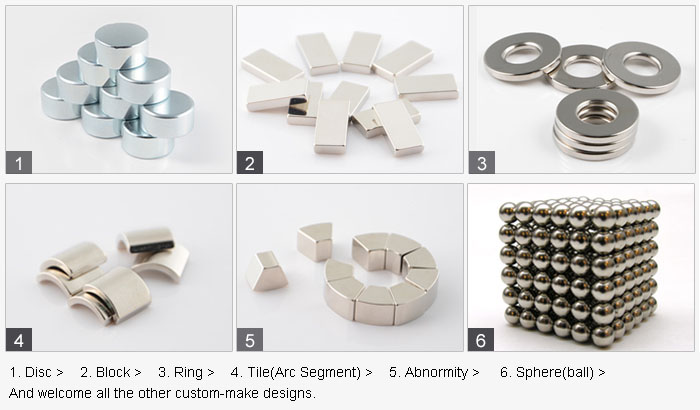 Permanent Speaker Neodymium Strong Magnet Arc Shaped NdFeB Motor Magnet