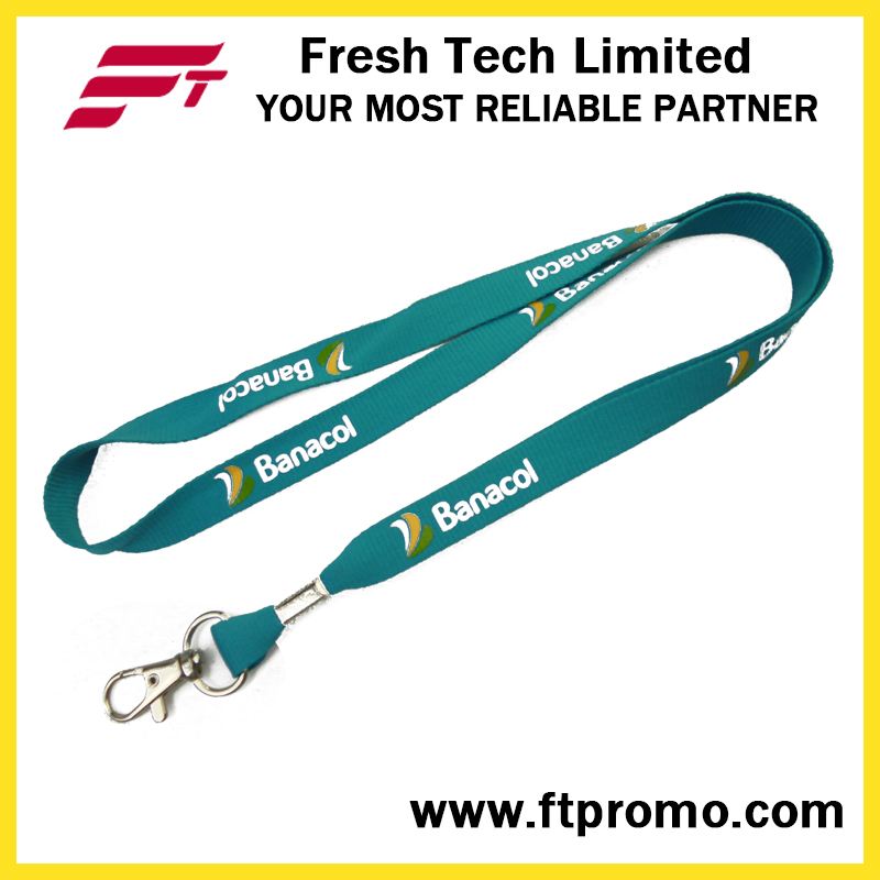 OEM Screen Print Cheap Polyester Lanyard