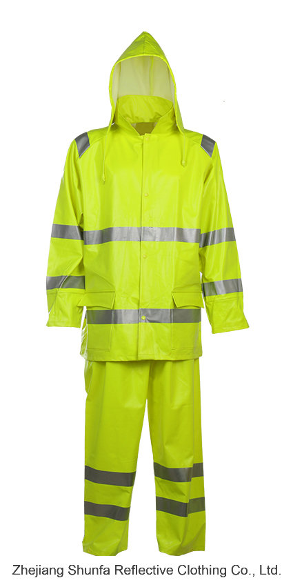 Waterproof Winter Working Jacket with Fire-Resistant High Visibility Material