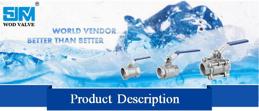 3-PC Butt Weld Ball Valve with Mounting Pad (ISO5211)