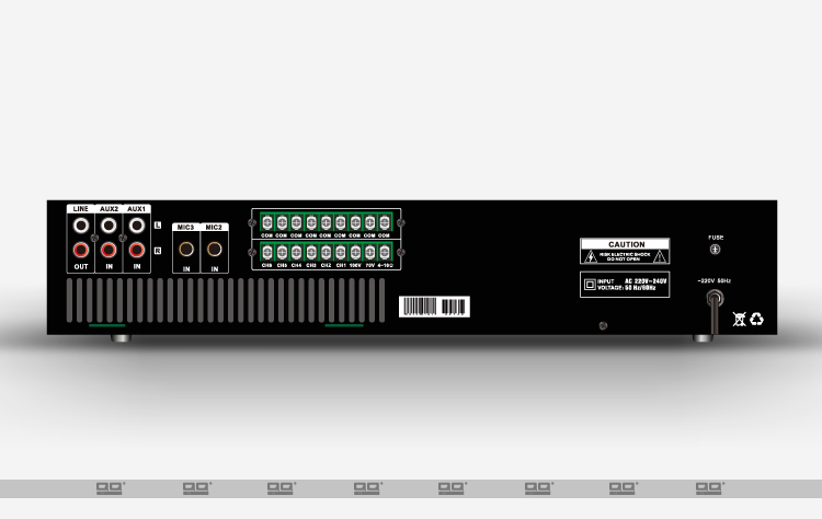 Pre-Power PA Amplifier with Individual Volume Contronal 60-880W