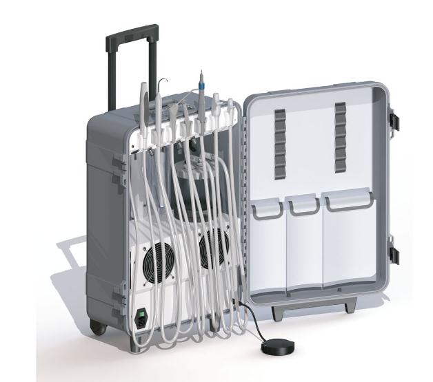 Du852-2015 Portable Dental Unit with High Suction