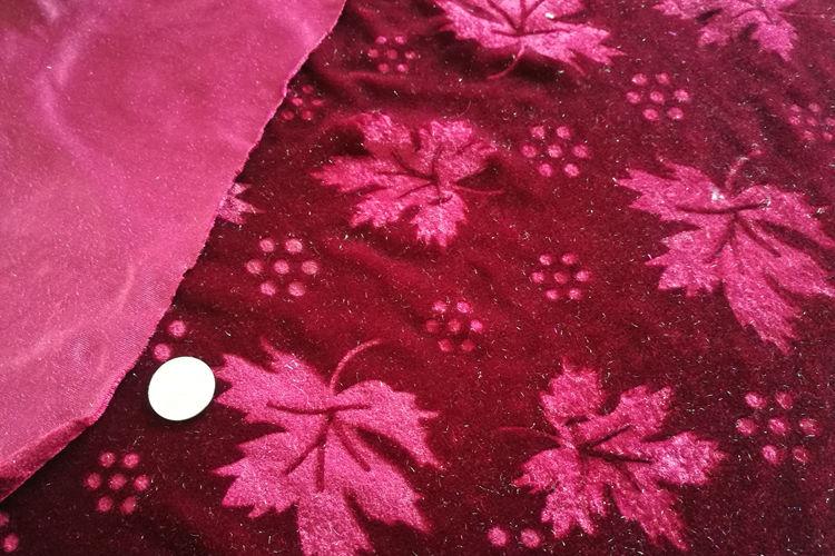 Mirco 3D Embossed Velvet Fabric