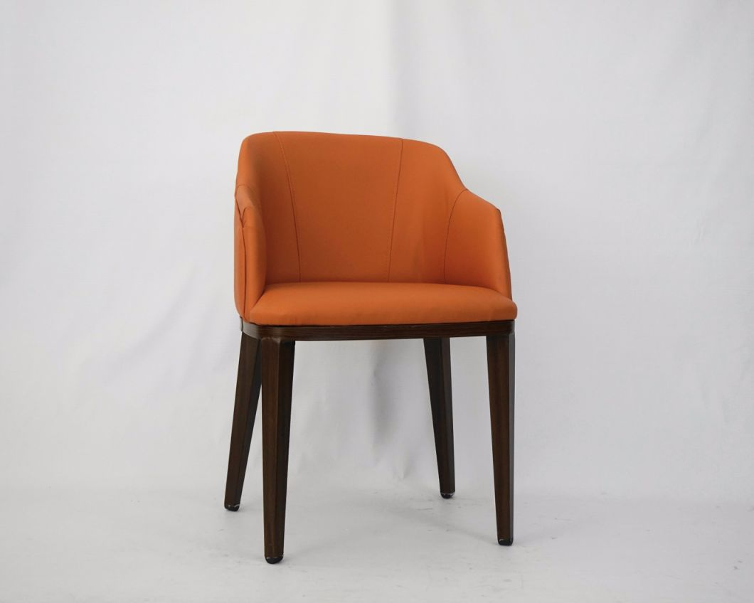 Modern Design Good Quality Hotel Metal Chair with PU Leather for Restaurant