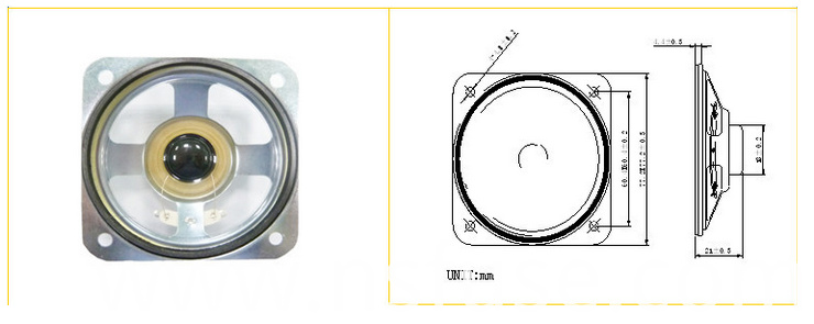 Fbsp7878 78*78mm Square Waterproof Loudspeaker (FBELE)