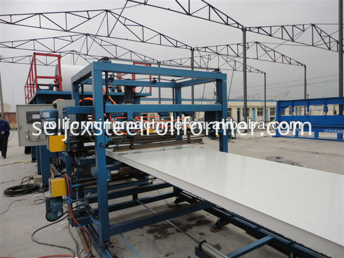 Rockwool Polyuretan EPS Sandwich Panel Production Machine Line