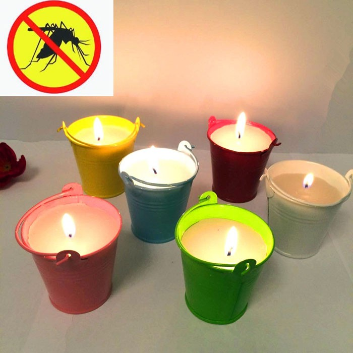 Mosquito Repellent Tin Container Candles