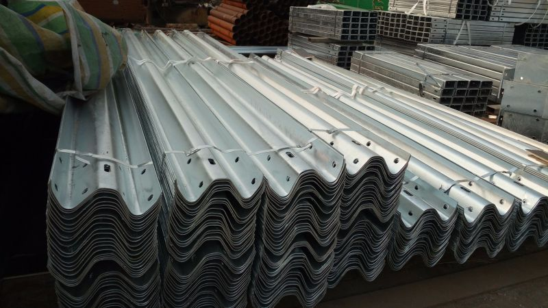 Galvanized W Beam Highway Guardrails