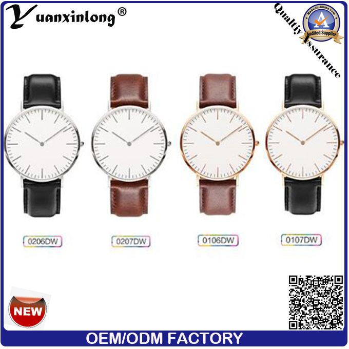 Yxl-657 2016 New Fashion Custom Mens Watch, Premium Genuine Leather Watch