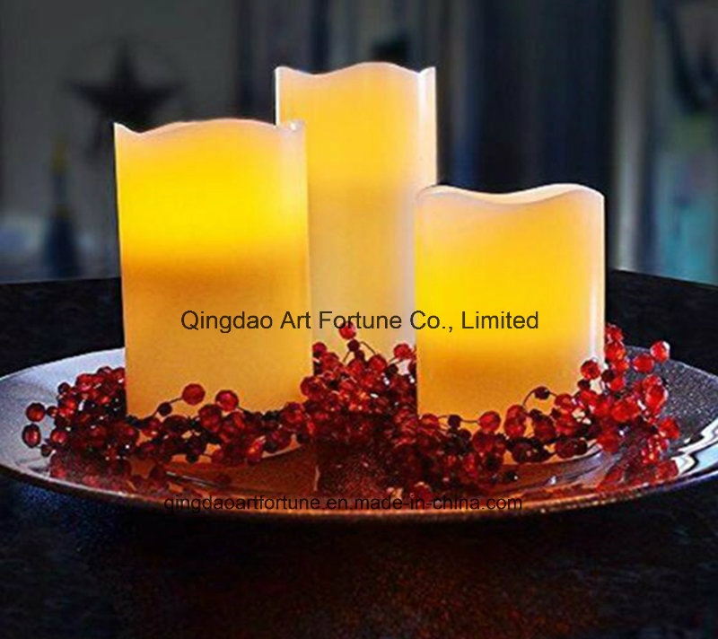 Unscented LED Candle in Glass Bowl Jar