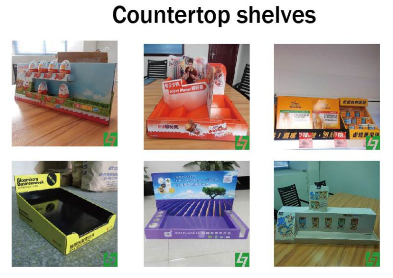 Cardboard Point of Sales Display, Cosmetic Countertop Display Shelf