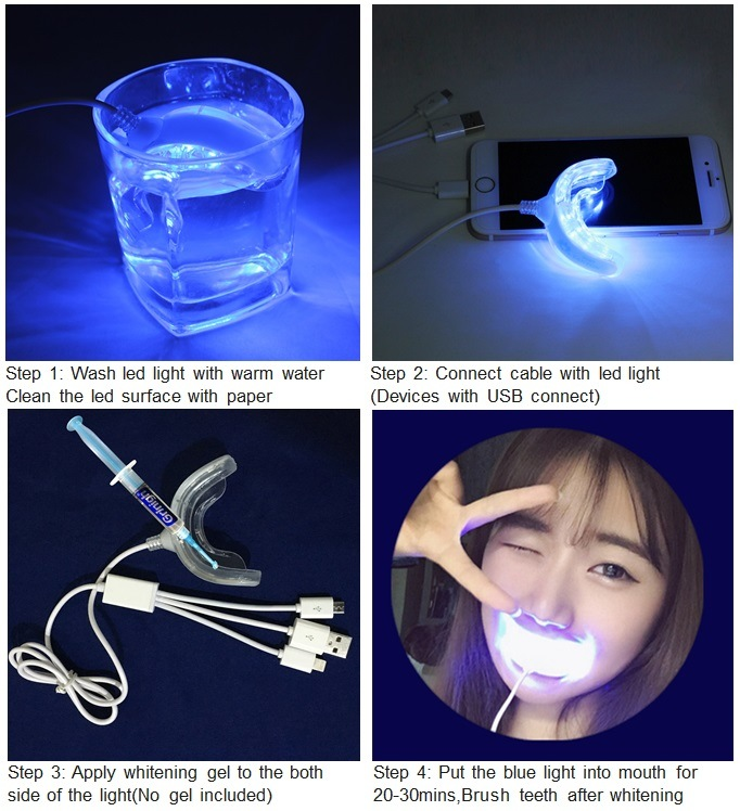 16PCS Blue Light Dental LED Curing Light, Mini LED Teeth Whitening Light