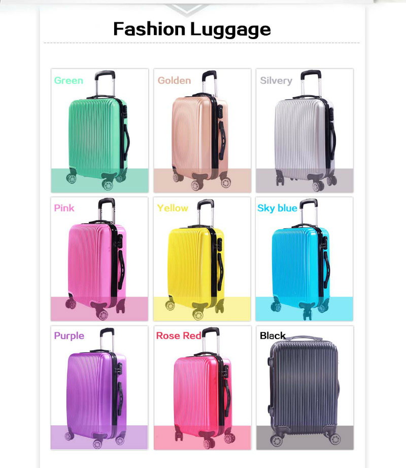 20''/24''/28'' PC+ABS Colorful Luggage Set Travel Bags Cheap Trolley Suitcase Set for 2016