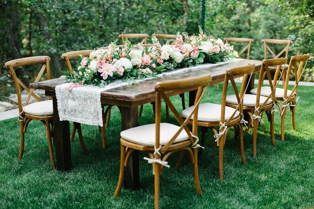 Customlized Outdoor Wood Banquet Camping Wedding Party Dining Table