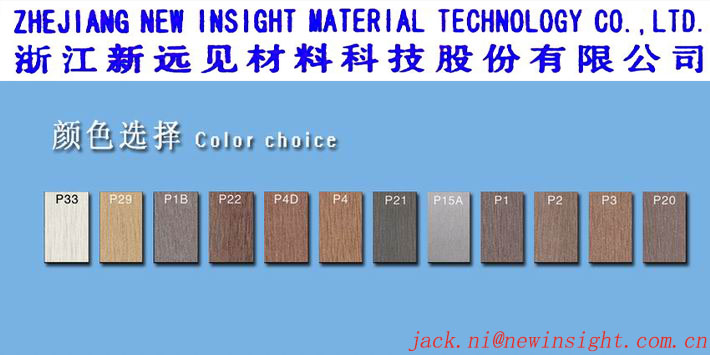 245*20mm WPC Wood Plastic Composite Panel