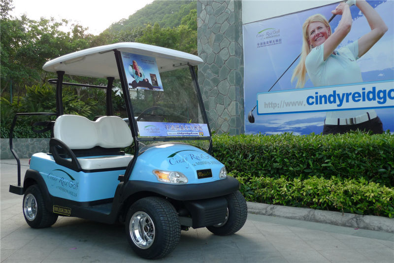 Aluminium Chassis 2 Seater Electric Golf Car for Golf Course