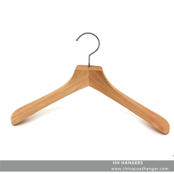 Wooden Mohagany Top Suit Hanger with Logo Lasered