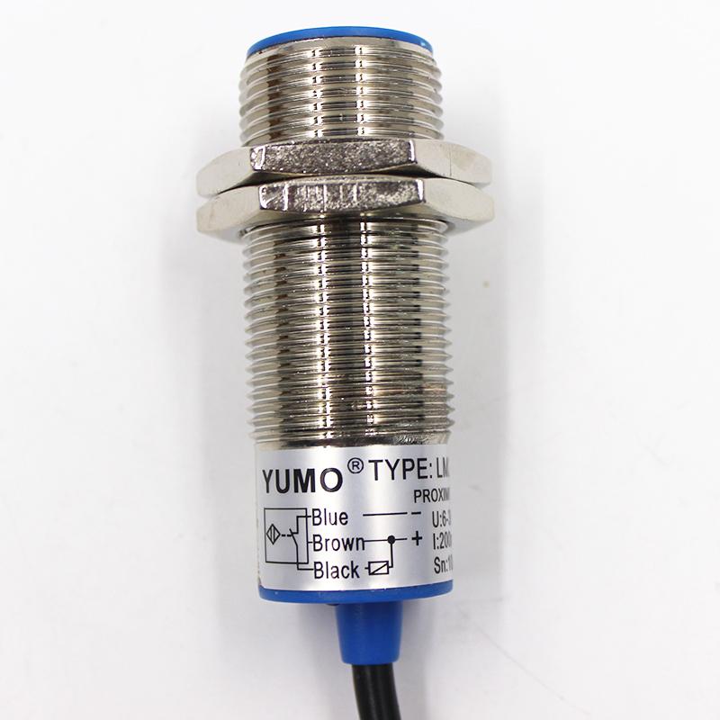 Yumo M24 Detecting 10mm Inducitive Cylinder Proximity Switch Sensor