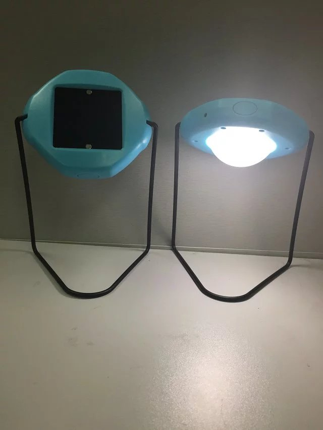 UFO Design Solar Desk Table LED Lamp Light for Student Reading
