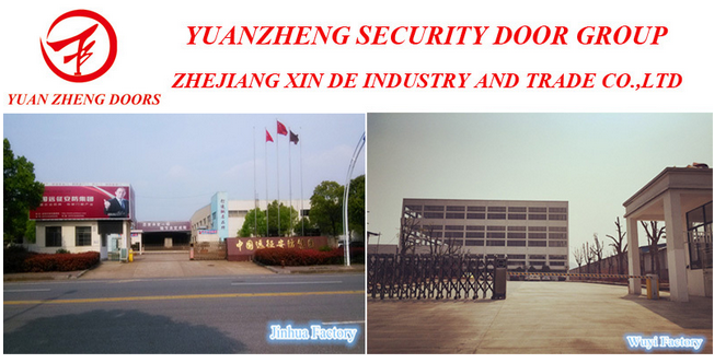 Hot Sale Power Coated Steel Security Door for Iraq
