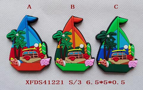 Silicone Cartoon Shell Magnet, Soft PVC Cartoonsea Fridge Magnet, Rubber Cartoon Magnet
