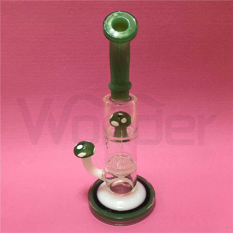 Mushroom Design Glass Water Pipe for Smoking