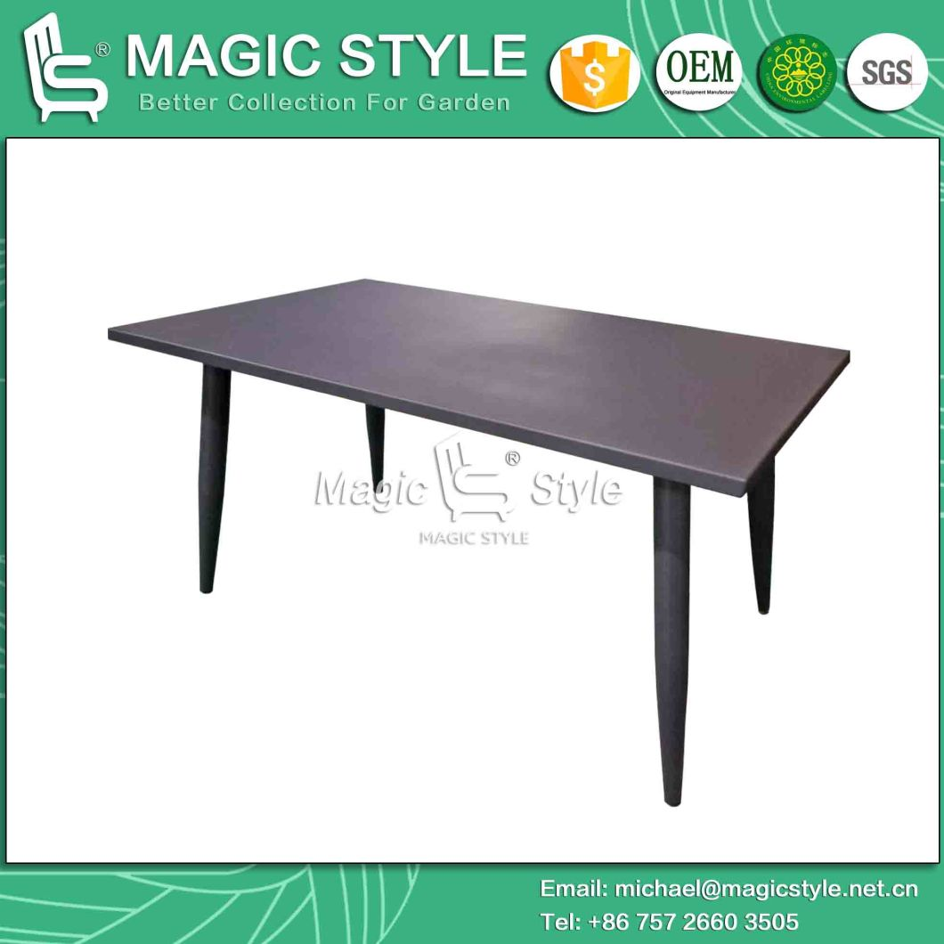 Outdoor Aluminum Table Outdoor Rectangle Table Garden Dining Table Modern Dining Table Patio Dining Table (Magic Style)