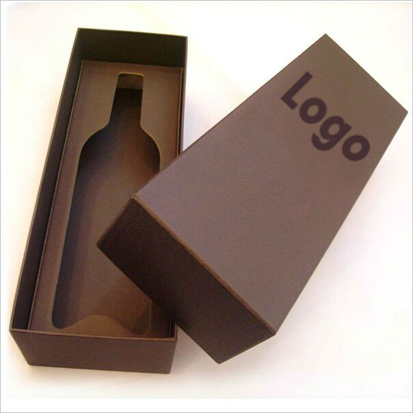 High End Paper Packaging Wine Boxes with Hinged Lid