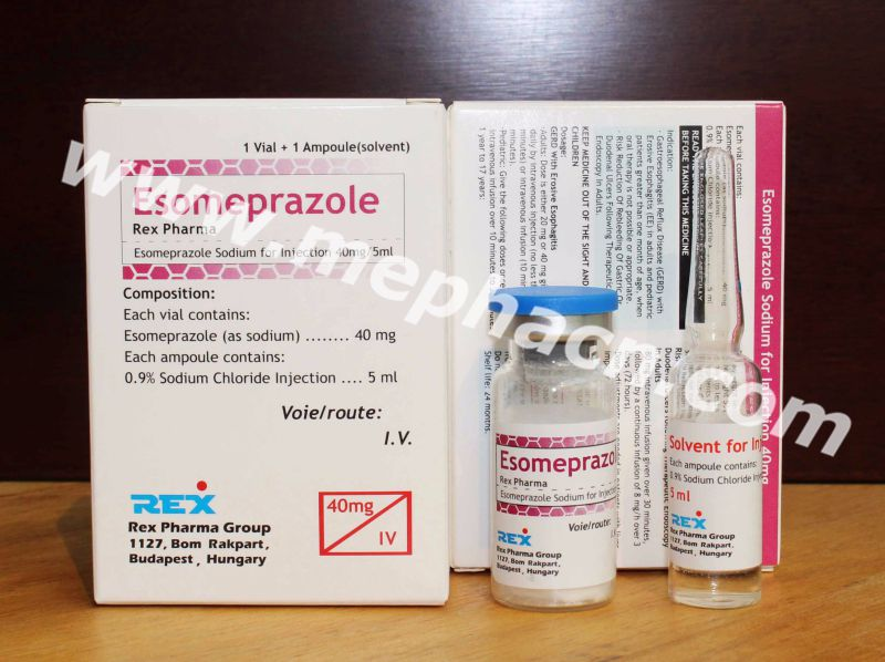 Esomeprazole for Injection 40mg & Actd/Ctd Dossiers of Esomeprazole Injection 40mg