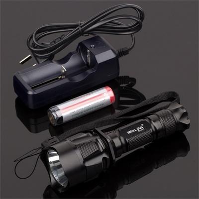 1X18650 Batt Tail Switch 3modes C11 Flashlight