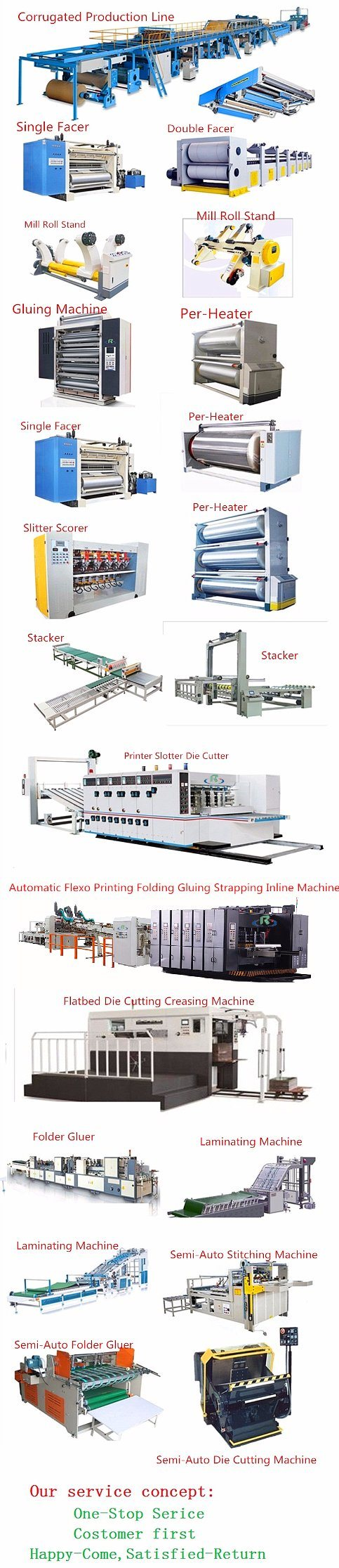 Vacuum Suction Fingerless Model Single Facer Corrugated Machine